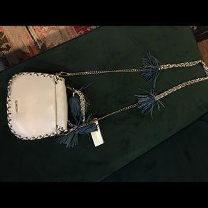 New Rebecca Minkoff blue leather fringe bag